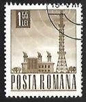 Sellos de Europa - Rumania -  Estacion de radio