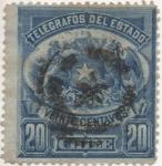 Sellos del Mundo : America : Chile : Y & T Nº 3 Telegrafo