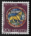 Sellos de Europa - Suiza -  Zodiaco - Leo