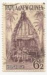 Sellos del Mundo : Oceania : Papúa_Nueva_Guinea :  Arquitectura   Casas   Edificios