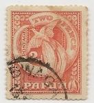 Sellos del Mundo : Oceania : Papúa_Nueva_Guinea :  Animales (Fauna)   Arte   Aves   Colmillos