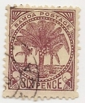 Sellos del Mundo : Oceania : Samoa_Occidental :  Árboles   Palmeras   Plantas (Flora)