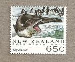 Sellos del Mundo : Oceania : Nueva_Zelanda : Dependencia de Ross , Foca leopardo