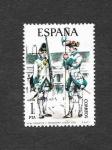 Sellos de Europa - España -  Edf 2236 - Uniformes Militares