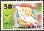 Sellos del Mundo : America : Antillas_Neerlandesas :  Hands holding dove