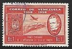 Sellos del Mundo : America : Venezuela : Miguel Herrera, avion y tren