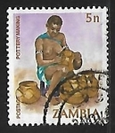 Sellos del Mundo : Africa : Zambia : Alfarero
