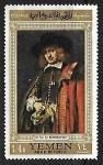 Sellos del Mundo : Asia : Yemen : Jan Six by Rembrandt