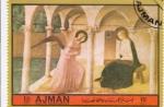 Sellos de Asia - Emiratos Árabes Unidos -  VISITA DEL ANGEL A MARIA