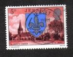 Sellos del Mundo : Europa : Isla_de_Jersey : Escudo de armas