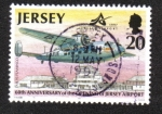 Sellos del Mundo : Europa : Isla_de_Jersey : 60 aniversario de la apertura del aeropuerto de Jersey