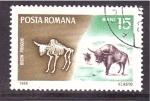 Sellos de Europa - Rumania -  serie- Fosiles