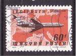 Sellos de Europa - Hungría -  serie- Rutas aéreas
