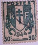 Sellos de Europa - Francia -  1944 - type chaînes brisées
