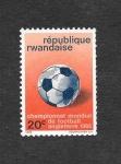 Sellos de Africa - Rwanda -  176 - Campeonato Mundial de Futbol Inglaterra