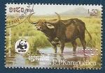 Sellos de Asia - Camboya -  Búfalo de Agua - WWF