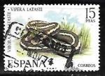 Sellos del Mundo : Europa : España : Fauna Hispánica - Víbora de Lataste