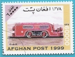 Sellos del Mundo : Asia : Afganistán : Locomotora de maniobras sin cabina 0-4-0