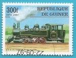 Sellos de Africa - Guinea -  Locomotora Vulcan 0-6-0 de Vulcan Iron Works