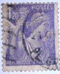 Sellos de Europa - Francia -  type iris