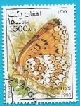 Sellos del Mundo : Asia : Afganistán : Mariposa doncella mayor - Melitaea phoebe