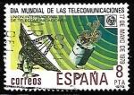 Sellos de Europa - España -  Dia Mundial de las Telecomunicaciones - Satélite y estación terrestre