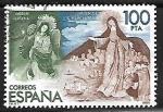 Sellos de Europa - España -  Exposición Filatélica de América y Europa - Virgen Alada de Quito y Virgen de los Mareantes