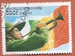 Sellos del Mundo : America : Guinea : 90 aniv de la Organización Scout Internacional