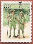Sellos del Mundo : Africa : Guinea : 90 aniv de la Organización Scout Internacional