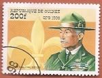Sellos del Mundo : Africa : Guinea : 90 aniv de la Organización Scout Internacional - Sir Robert Baden-Powell