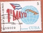 Sellos del Mundo : America : Cuba : Centenario celebración del 1º de Mayo
