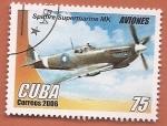 Sellos del Mundo : America : Cuba : Aviones - Spitfire Supermarine MK