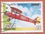 Sellos del Mundo : America : Cuba : Aviones - Comte AC-4 Gentleman