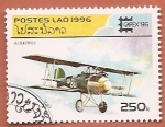 Sellos del Mundo : Asia : Laos : Aviones - Albatros - Capex 96