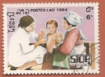 Sellos del Mundo : Asia : Laos : Campaña Stop a la Polio - vacunación