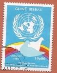 Sellos del Mundo : Africa : Guinea_Bissau : 40 aniv de la ONU