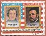 Sellos del Mundo : Africa : Guinea_Ecuatorial : Bi centenario de Estados Unidos - A. Johnson y U. Grant