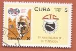 Sellos del Mundo : America : Cuba : 50 aniv de la CTC - central de trabajadores de Cuba