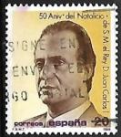 Sellos de Europa - España -  50º Aniversário natalício de SS.MM. los Reyes de España