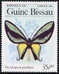 Sellos del Mundo : Africa : Guinea_Bissau : Mariposas