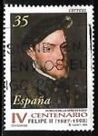 Sellos del Mundo : Europa : España :  Centenarios - Felipe II