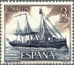 Sellos del Mundo : Europa : España : ESPAÑA 1964 1609 Sello Nuevo Barcos Marina Española Destructor c/trazas oxido
