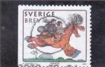 Sellos de Europa - Suecia -  DIBUJOS