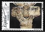 Sellos del Mundo : Europa : España : El románico aragonés - Capitel de la Iglesia de Santiago de Jaca
