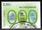 Sellos de Europa - España -  Valores cívicos - No contaminar