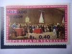 Sellos de America - Venezuela -  Sesquicentenario de la  Declaración de Independencia, 5 de Julio 1811 al 1961 - Firma de la Independ