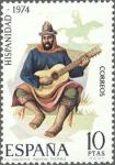 Sellos del Mundo : Europa : España : ESPAÑA 1974 2216 Sello Nuevo Hispanidad Argentina El Gaucho Martin Fierro