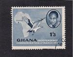 Sellos del Mundo : Africa : Ghana : Conmemoracion de la Independencia