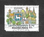 Sellos de Europa - Hungría -  1985 - La Curva del Danubio