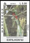 Sellos de America - Honduras -  Exfhilon 92